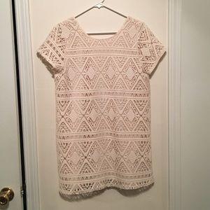 Show me your Mumu • Cream lace low back dress